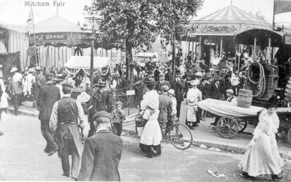 Mitcham Fair – postcard c.1910