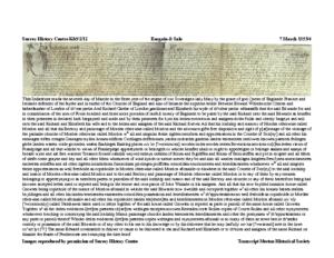 SHC K85/2/12: bargain & sale: transcript + image