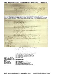 SHC K85/2/12: inventory: transcript + image