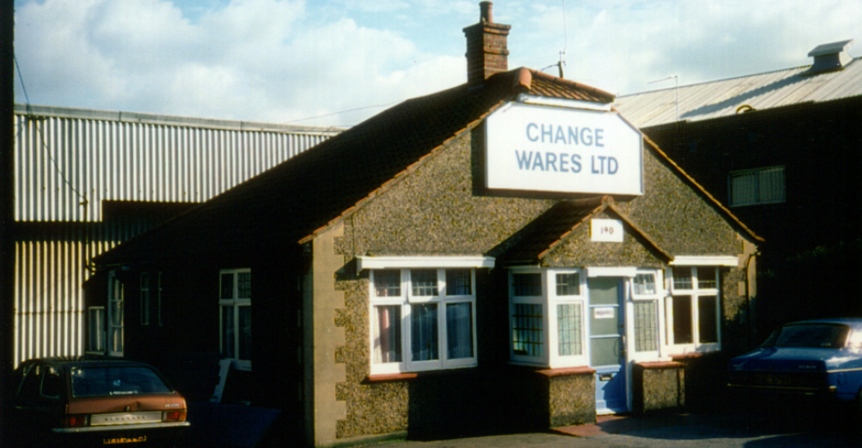 Change Wares Ltd, 190 Garth Road, Morden (WJR) 1975.