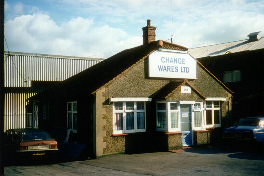 Change Wares Ltd, 190 Garth Road, Morden (WJR) 1975.