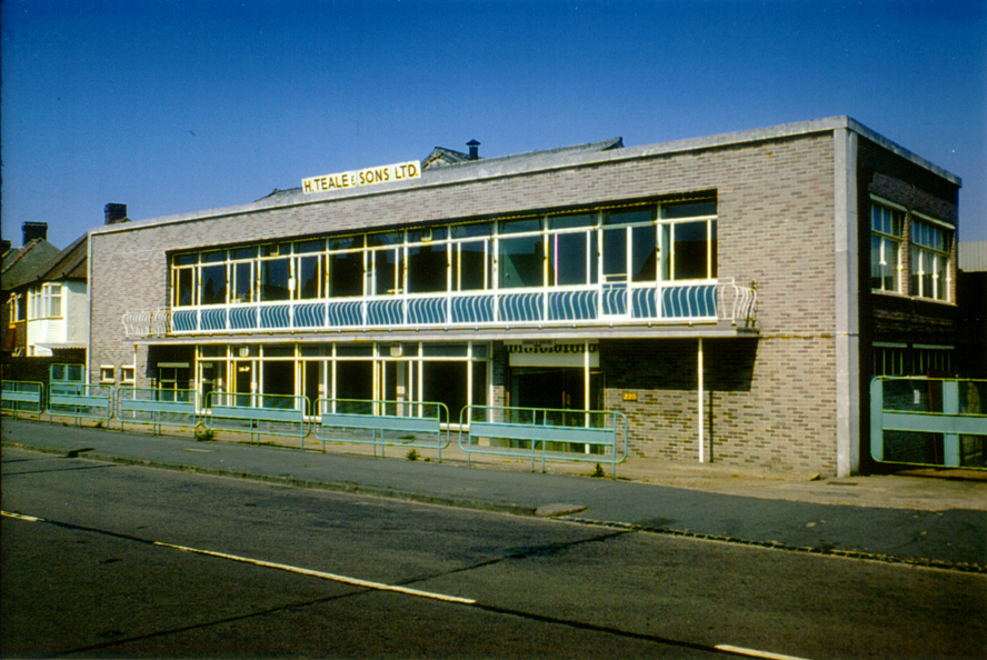 H Teale & Sons Ltd factory, Garth Road, Morden (WJR) 1975