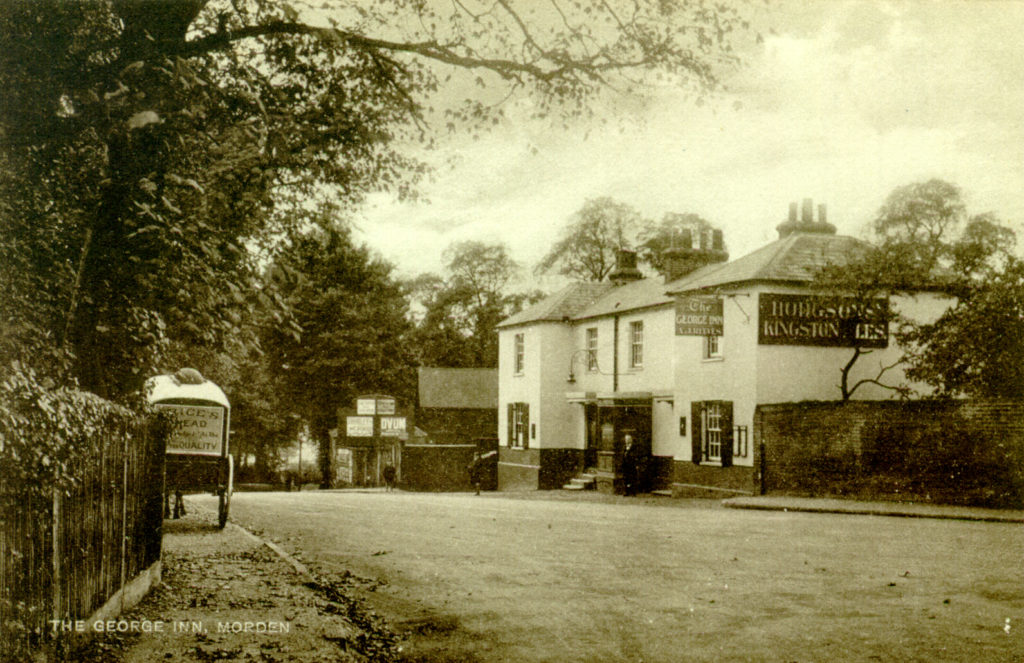 The George Inn, Morden. Undated sepia postcard by Tuck.