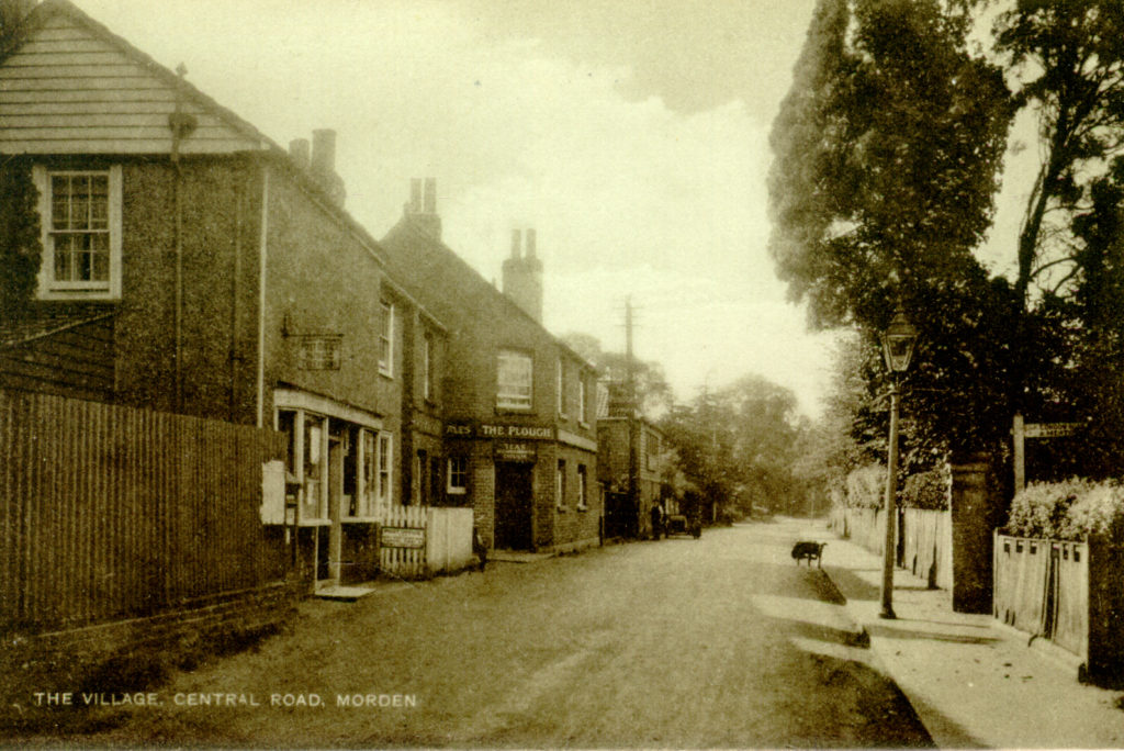 The 'Village', Central Road, Morden. Undated sepia postcard by Tuck.