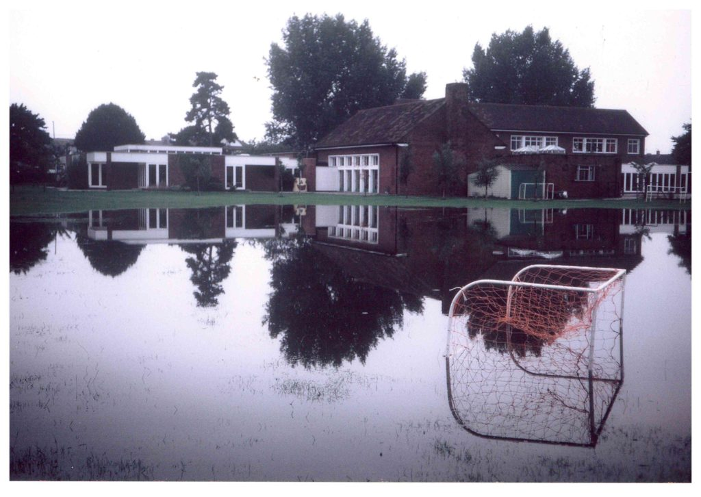 Hatfeild School, Lower Morden Lane, Morden, Flooding on 6 August 1981 (WJR)