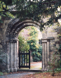 The Norman Archway, St Mary's Church, Church Path, Merton Park SW19. Moved from the site of Merton Priory and re-erected in 1935.
