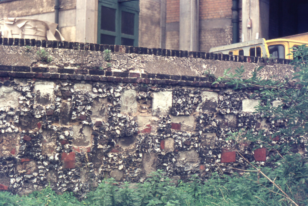 Length of Priory Precinct Wall near Merton Board Mills, off Merton High Street, Merton, London SW 19.