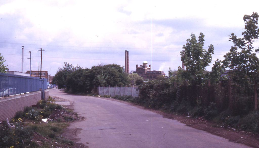 Station Road, Merton, London SW 19. Site of church of Merton Priory.