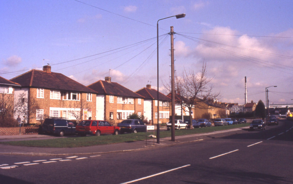 Liberty Avenue, Merton, London SW 19. Site of Meadows bleach grounds.