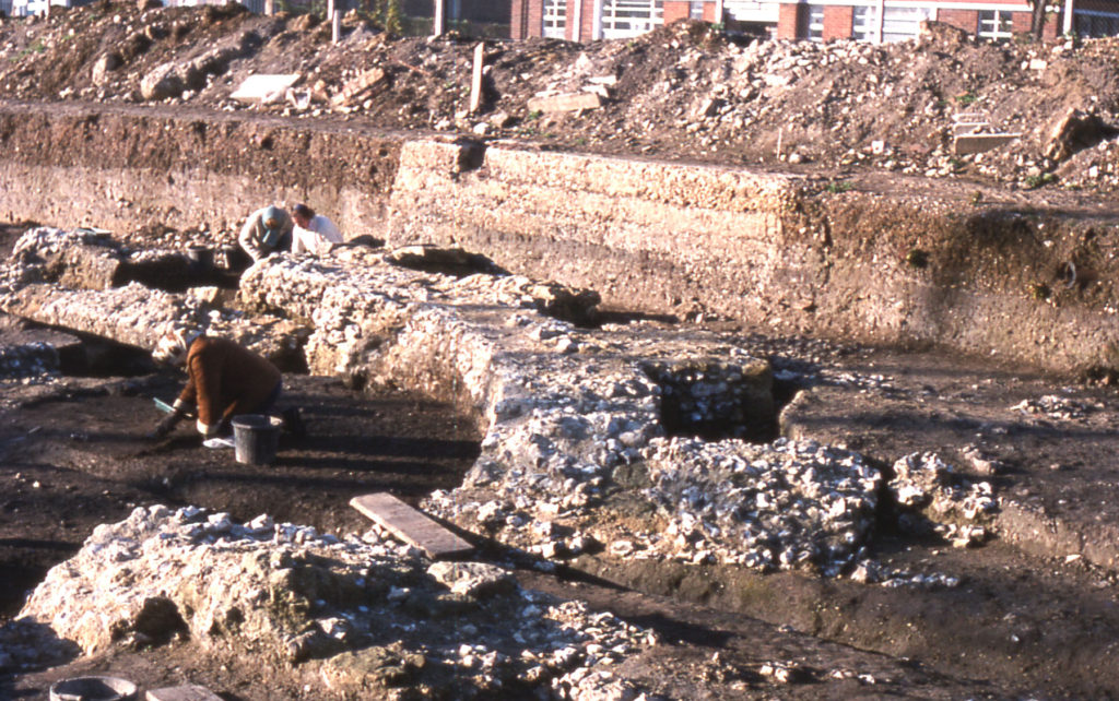 Excavation of the Chapter House of Merton Priory, Merton, London SW 19.