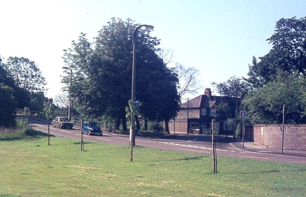 Cranmer Road and Cranmer Bridge, Mitcham, Surrey CR4.