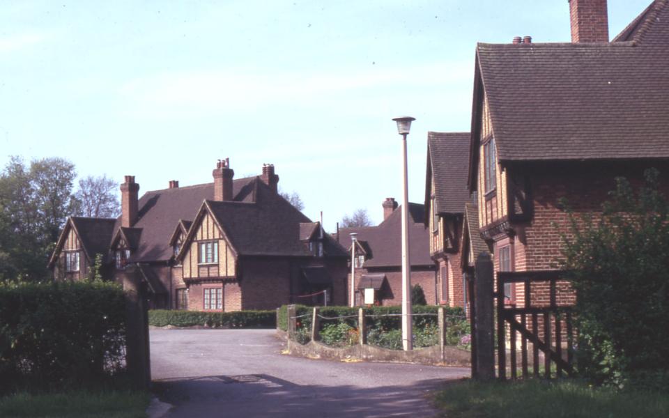 Mitcham Garden Village, Off Cranmer Road, Mitcham, Surrey CR4. Houses erected 1929-1932. originally as old peoples dwellings.