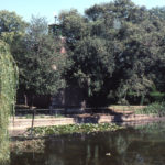 The Canons Pond, The Canons, Madeira Road, Mitcham, Surrey CR4. Originally two ponds when owned by the prior and convent of St. Mary Overy at Southwark in the Middle Ages.