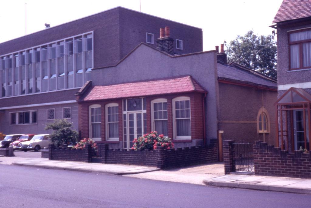 46 Cricket Green, Mitcham, Surrey CR4. Old Wesleyan Chapel. built 1789.
