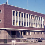 Mitcham Police Station, Cricket Green, Mitcham, Surrey CR4. Built 1965.