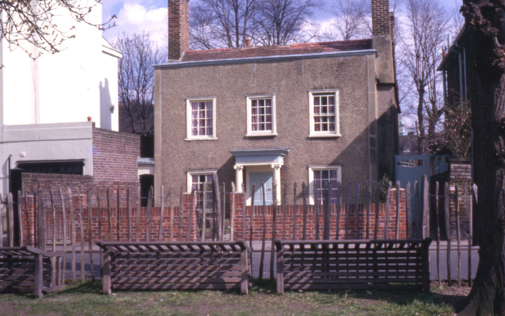Chestnut Cottage, 9 Cricket Green, Mitcham, Surrey CR4. 18th century.