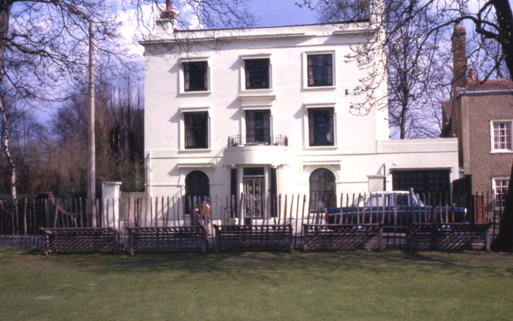 The White House, Cricket Green, Mitcham, Surrey CR4. Late 18th century. Formerly called Ramornie.