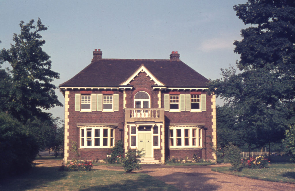 The Birches, Cricket Green, Mitcham, Surrey CR4. Built late 1920s. The home of Sir Isaac Wilson. benefactor and founder of the Wilson Hospital.