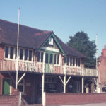 Mitcham Cricket Clubhouse, Cricket Green, Mitcham, Surrey CR4. Built c. 1900.