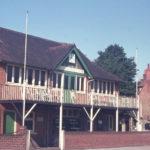 Mitcham Cricket Clubhouse, Cricket Green, Mitcham, Surrey CR4. Built c. 1900.