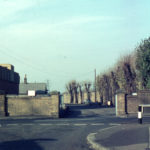 Byegrove Road, Colliers Wood, London SW19. Entrance to Wandle Valley Sewage Works.