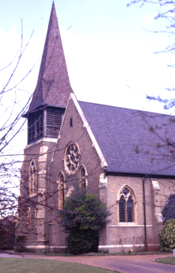 Christ Church, Christchurch Road, Colliers Wood, London SW19. Consecrated 14 May 1874. test$