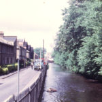 Wandle Bank (left) and Perry's Cut (River Wandle), Colliers Wood, London SW19. Perry's Cut made before 1870.