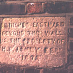 Boundary tablet on wall of Wandle Park, Colliers Wood, London SW19. Byegrove Road. rear of Newborough Court.