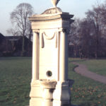 Memorial to John Feeney in Wandle Park, Colliers Wood, London SW19.