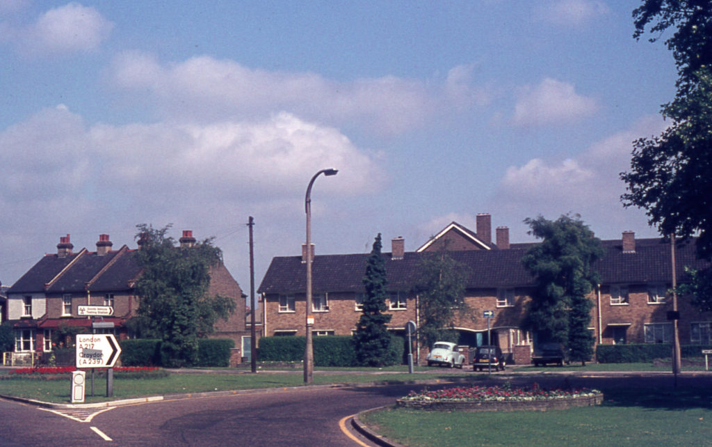 Beadle Court, Lower Green West, Mitcham, Surrey CR4. The site of the 17th century Vine House.