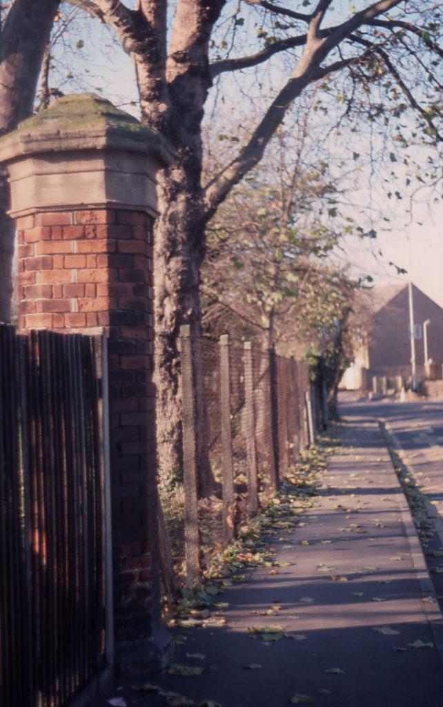 Hall Place - gate post, Lower Green West, Mitcham, Surrey CR4.