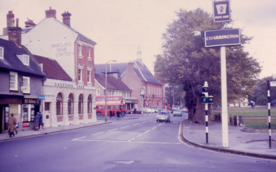 London Road by Cricket Green, Mitcham, Surrey CR4. Looking North from Kings Head.