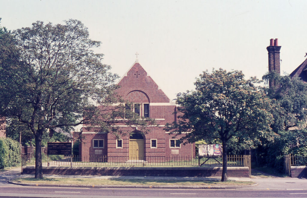 Congregational Church, London Road, Mitcham, Surrey CR4. Opened June 1932. Demolished in 1993. and site redeveloped as Temple Gate Mews.