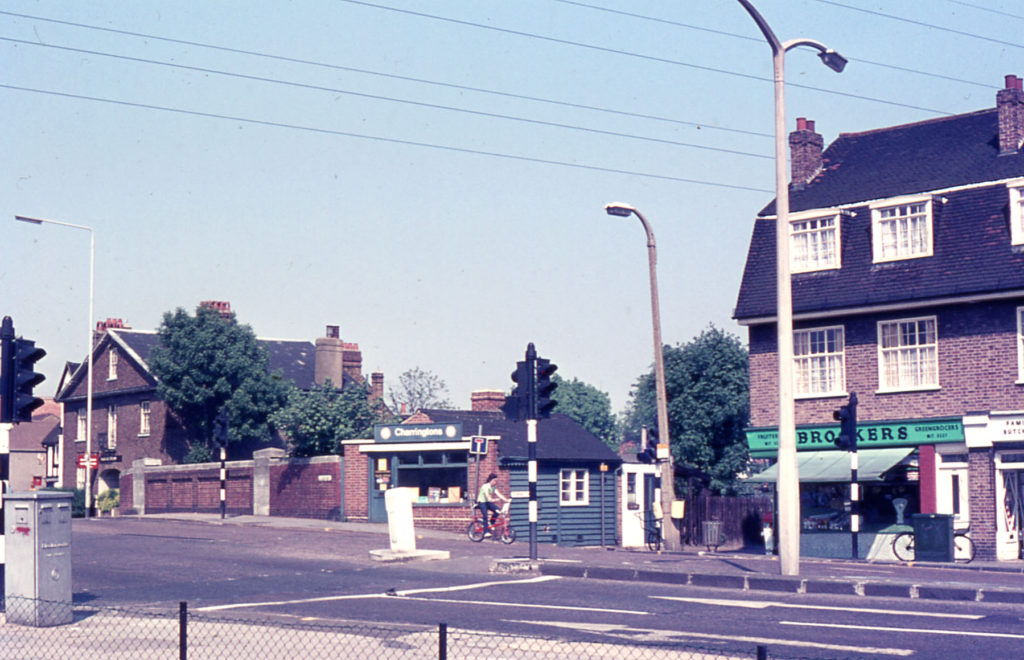 Junction of London Road with Tramway Path, Mitcham, Surrey CR4.