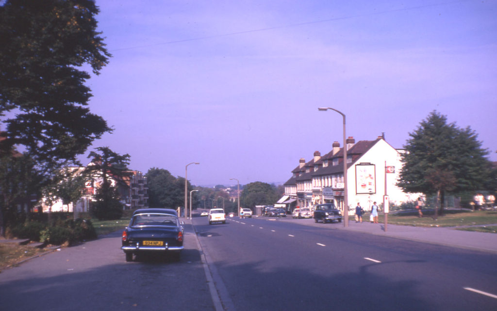 Bishopford Road, looking north towards Mitcham, Morden, Surrey CR4.