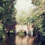 Mitcham Bridge from Happy Valley (downstream), Mitcham, Surrey CR4.