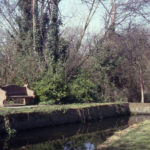 Paper Mill Cut, Watermeads, Mitcham, Surrey CR4. Miranda Hill Memorial Seat.