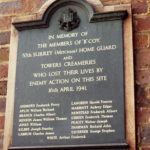 Home Guard Memorial Tablet at Tower Creameries, Commonside East, Mitcham Common, Mitcham, Surrey CR4.