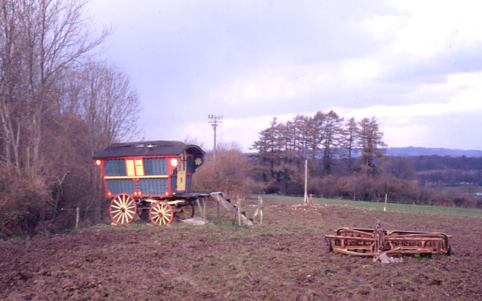 Gipsy caravan on Mitcham Common, Mitcham, Surrey CR4.