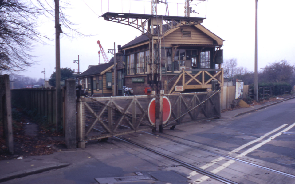 Beddington Lane Halt, Mitcham Common, Mitcham, Surrey CR4. Line of Surrey Iron Railway.