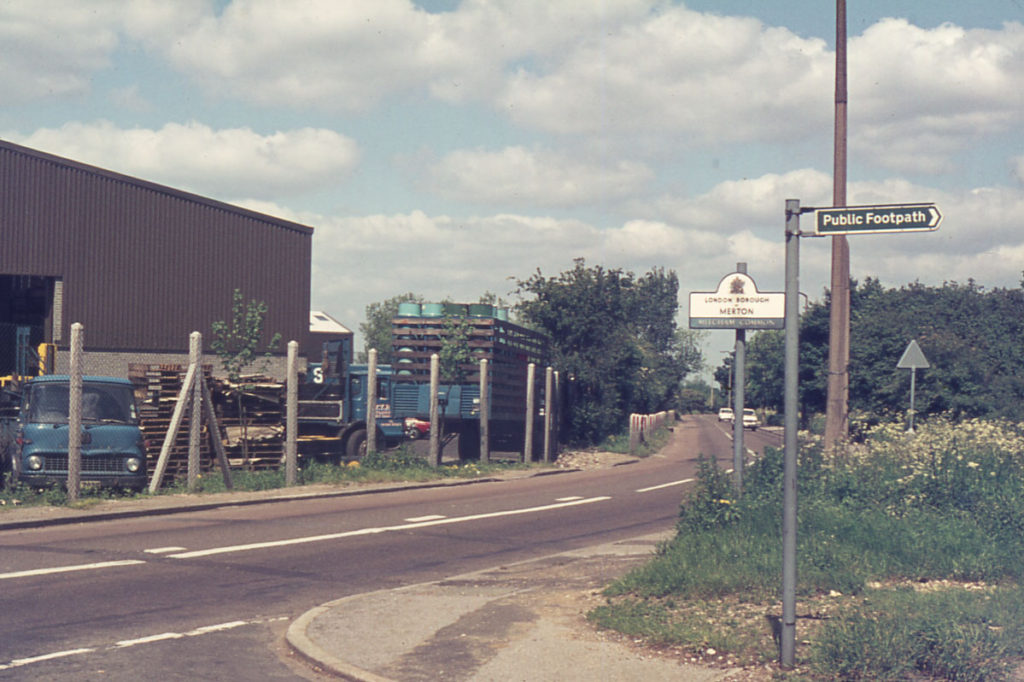 Beddington Lane, Mitcham Common, Mitcham, Surrey CR4. Factory encroachment.