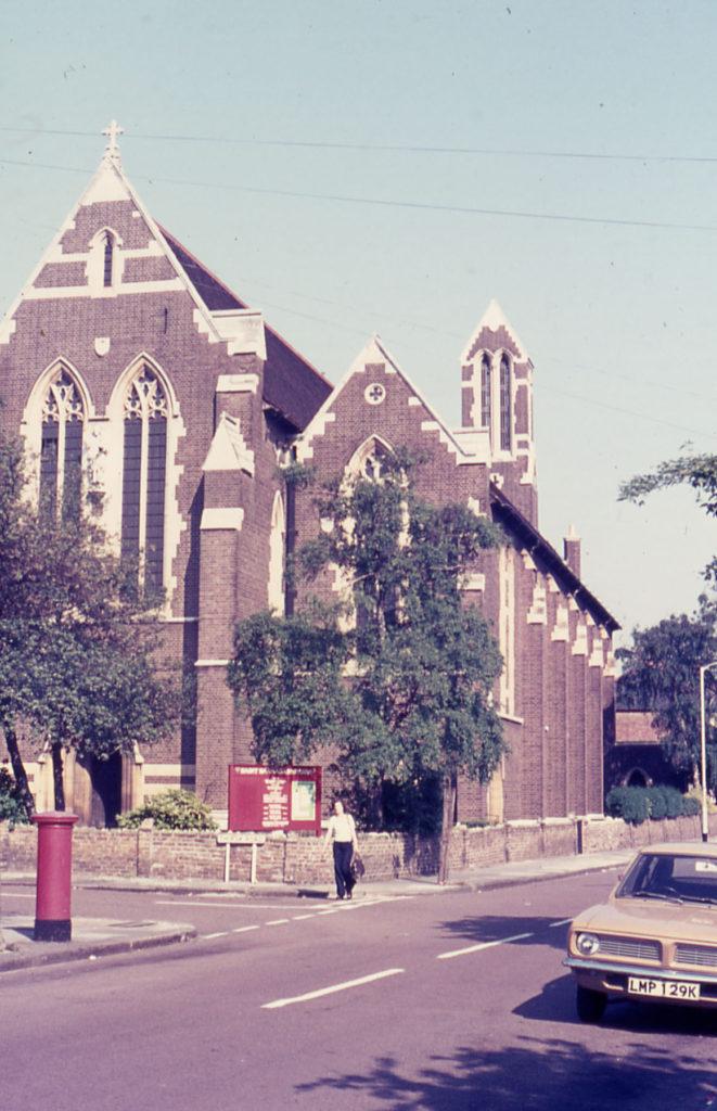 St. Barnabas's Church, Gorringe Park Avenue, Mitcham, Surrey CR4. Foundation stone laid by the Lord Mayor of London. Sir William Burnet. in 1913.