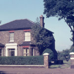 Tamworth Farm House, London Road, Mitcham, Surrey CR4. Victorian villa. c. 1870. built on enclosed land. straddling entrance to old farmstead. Residence of Chuter Ede (Home Sec. 1945-1951). Demolished c. 1977. Site now Dennis Reeve Close.