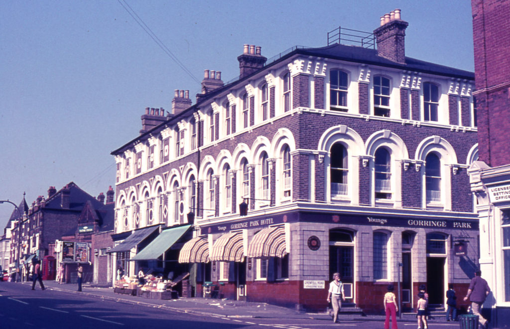 Gorringe Park Hotel, London Road, Mitcham, Surrey CR4. Bought by Young &Co. in 1898. Had a music hall in 1950s and 1960s.