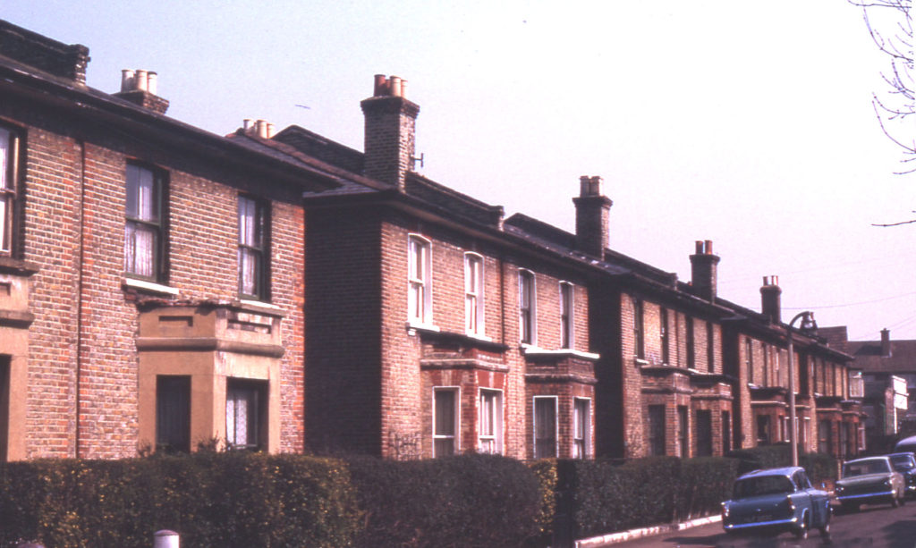 Arnold Road, Tooting Junction, London SW17. Awaiting demolition. Semi-detached villas of c. 1880.