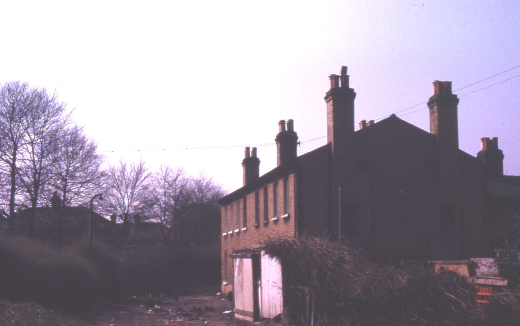 Cottages off Swains Lane, London SW17. Awaiting demolition. Late 19th century. last remnant of Bunce