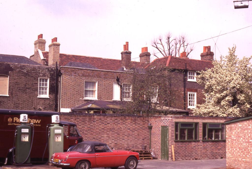 Rear of Georgian Houses at Renshaws Corner, Streatham Road, Mitcham, Surrey CR4.