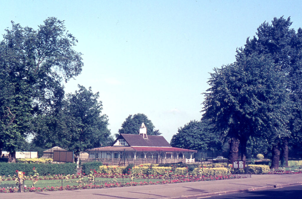 Recreation Ground, Mitcham, Surrey CR4. The Chalet. Tamworth Farm. Was Figges Marsh farm until 1840s. Very old (tudor?) farmhouse demolished in 1860s.