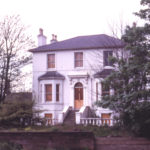 Victorian Vila on Merton side of Wandle, Phipps Bridge Road, London SW19. Built for Paul Addington c. 1850. Demolished 1979.