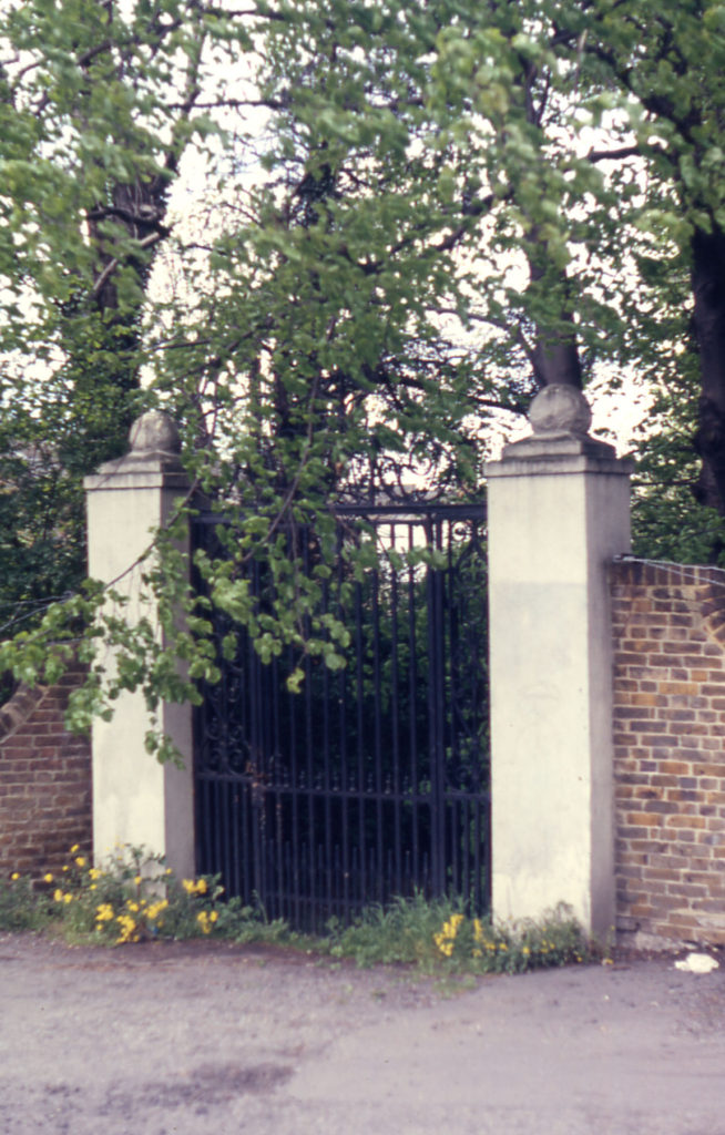 Gateway to Addingtons Villa, Phipps Bridge, London SW19. Gate relocated in 1975 to Cannizaro Park. Wimbledon.